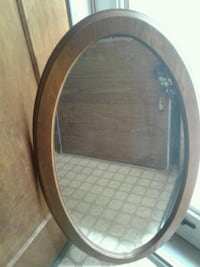 round brown wooden framed mirror Silver Spring, 20904