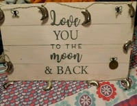 Love you to the moon and back sign 480 km