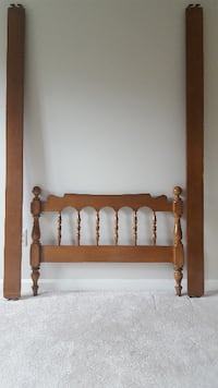 brown wooden headboard and footboard STERLING