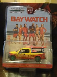 GREENLIGHT BAYWATCH 2016 FORD F150 CHASE DIECAST