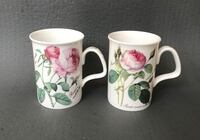 BRILLIANT Hand Painted Designer Tea Cups by Roy Kirkham; Exclusive Design; Hand Painted - Redouté  Roses Collection 2006; Brand New Cups; Lot of 2 Houston, 77056