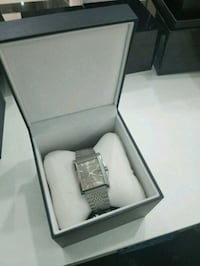 silver-colored analog watch with link bracelet Woodbridge, 22192