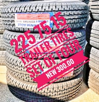 225 75 15 SET of FOUR NEW TIRES  trailer TIRES 300.00