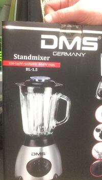 Grå och svart dms germany stand mixer box