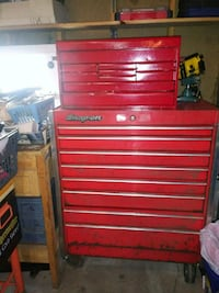 red and gray Snap-on cabinet Minneapolis, 55406
