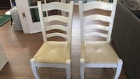 two white wooden windsor chairs Queen Creek, 85142