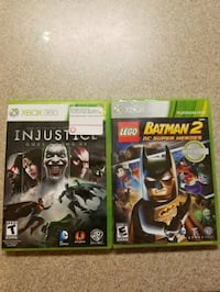 TWO Xbox 360 games- Injustice and Batman 2 Seaside, 93955