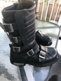 Leather Harley Davidson ridding boots