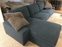 Gray fabric sectional sofa with throw pillows Annandale, 22003
