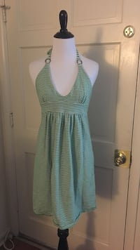 women's teal and white scoop neck halter top dress Jacksonville Beach, 32250
