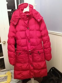 red zip-up ladies size med coat