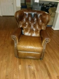 brown leather God Father chair Apex, 27539