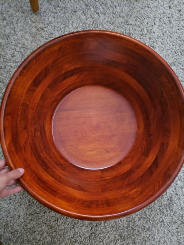 Wooden Party Salad bowl w/ Stand  94002cbb-4116-4a79-b632-a107b15096c1