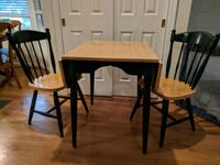 rectangular brown wooden table with four chairs dining set Fairfax, 22030
