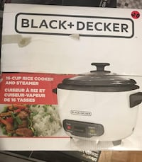 Black + Decker 16-cup rice cooker and steamer box