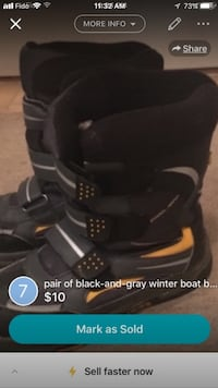 Black and yellow size 6 boys boots  Richmond Hill, L4C