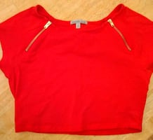 Like New Sz Medium Charlotte Russe Crop Top