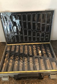 """Master grip Drill bit set for metal from 1/16"""" up to 1/2"""" over 200 bits brand new Manassas"""
