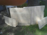 four gray wooden boards