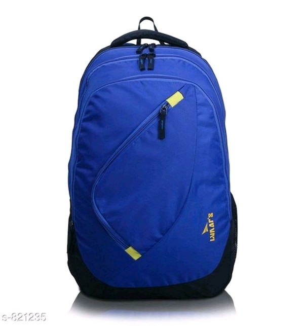 blue and black The North Face backpack