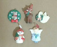 Hand Painted Ornaments (all 5)