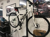 white and black hard tail mountain bike Citrus Heights, 95610