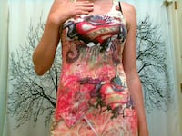 womans ed hardy style shirt long size sm/med Surrey
