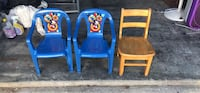 two blue and brown wooden armchairs Virginia Beach, 23452