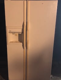 white side-by-side refrigerator with dispenser Irving, 75062