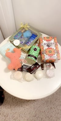 Variety of showering items