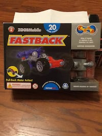 Red and blue zoobmobile fastback pull it back & watch it go-travels toy box Greensburg, 15601