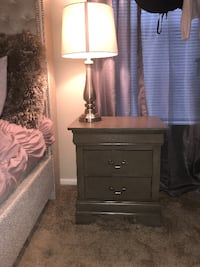 brown wooden 2-drawer nightstand Silver Spring