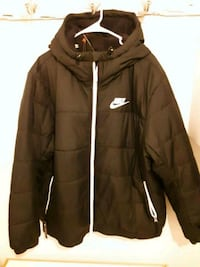 Brand new Nike thermore coat with a hood
