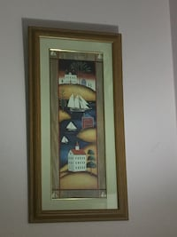 Wall painting with wooden frame   Burnaby, V5C 3T8