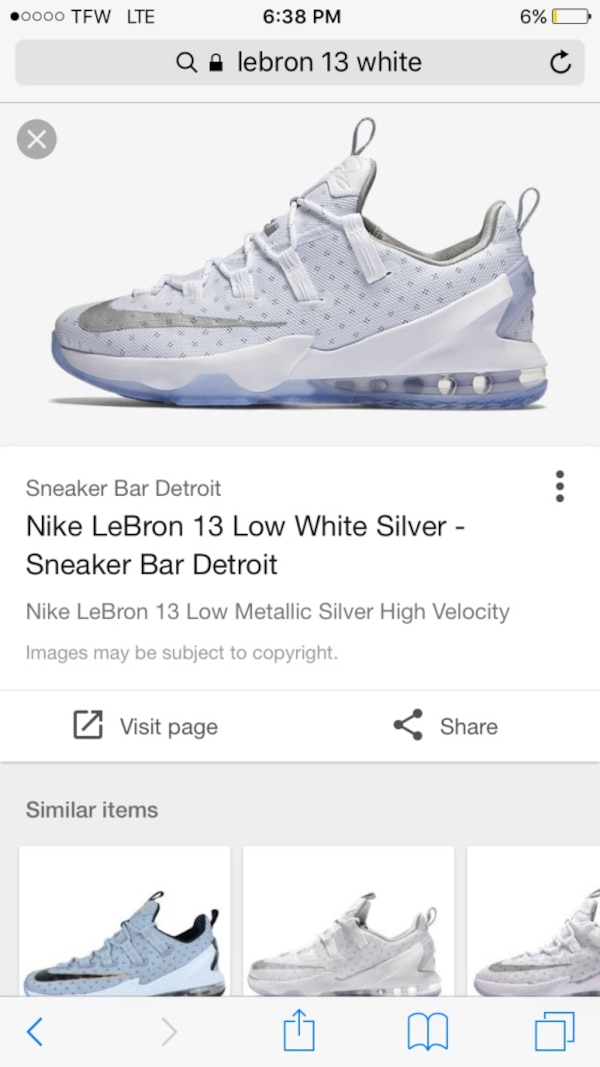 best website 7cf3e 78cd4 Nike LeBron 13 low white sneakers