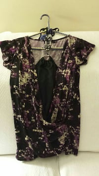 women's black and purple floral blouse Calgary, T2W 3N3