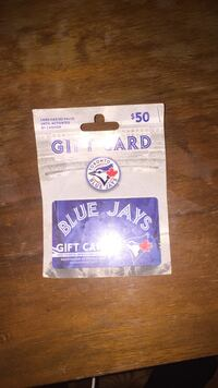 blue and gray Blue Jays gift card Whitby, L1M 0G3