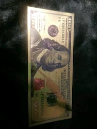 HUNDRED DOLLAR BILL. COLLECTORS BILL Lincoln