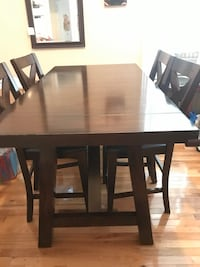 Counter Height Dining Set with Chairs and Table Extension New York, 10462