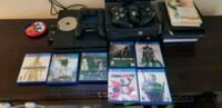 Sony PS4 console with controller and game cases Miami, 33170