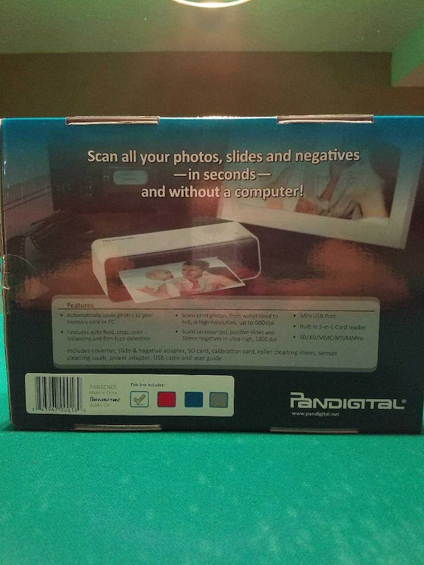 Used Pandigital Photo Slide And Negative Converter Box For Sale In