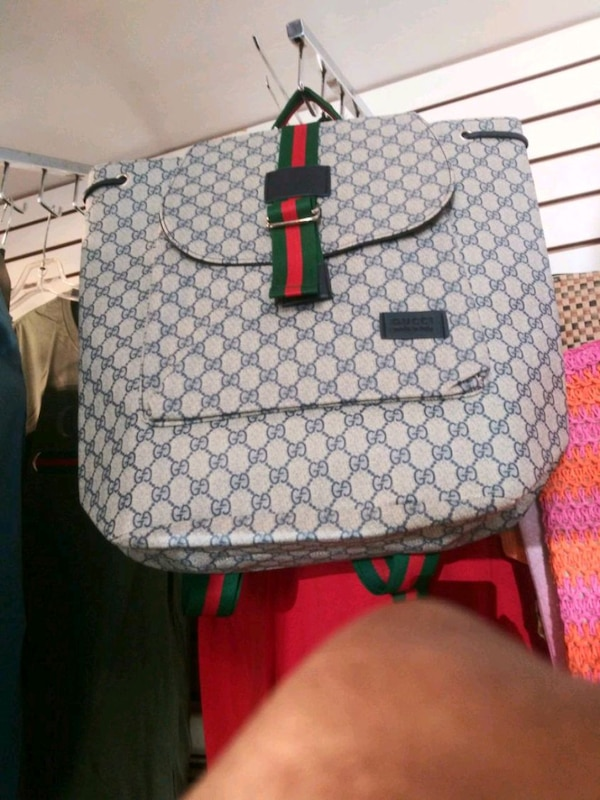 8761c66d1566 Used gray and black Gucci backpack for sale in Oakland - letgo
