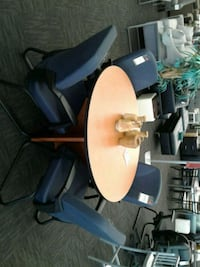 Round Conference Table w/ Office Chairs Norfolk, 23502