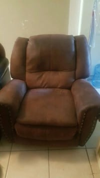 brown leather recliner sofa chair Mission, 78572