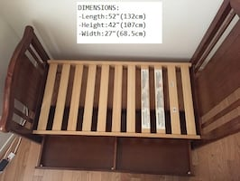 Toddler Bed - Wooden Frame