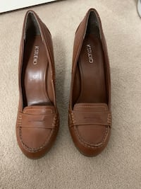 Leather Brown Wedges Shoes Brampton, L7A 3C7