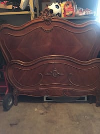 brown wooden headboard and footboard North Saanich, V8L 5J4