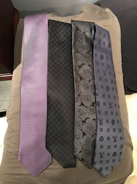 Men's designer silk ties, Louis Vuitton, Zegna, Dolce and Gabbana and Lanvin Paris  Burnaby, V5G 3X4