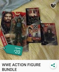 WWE character action figure packs Tampa