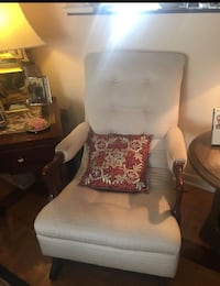 Re upholstered  sofa chair and stool